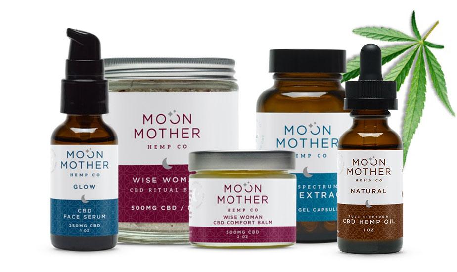 Organic CBD Oil - Moon Mother Hemp - Homepage